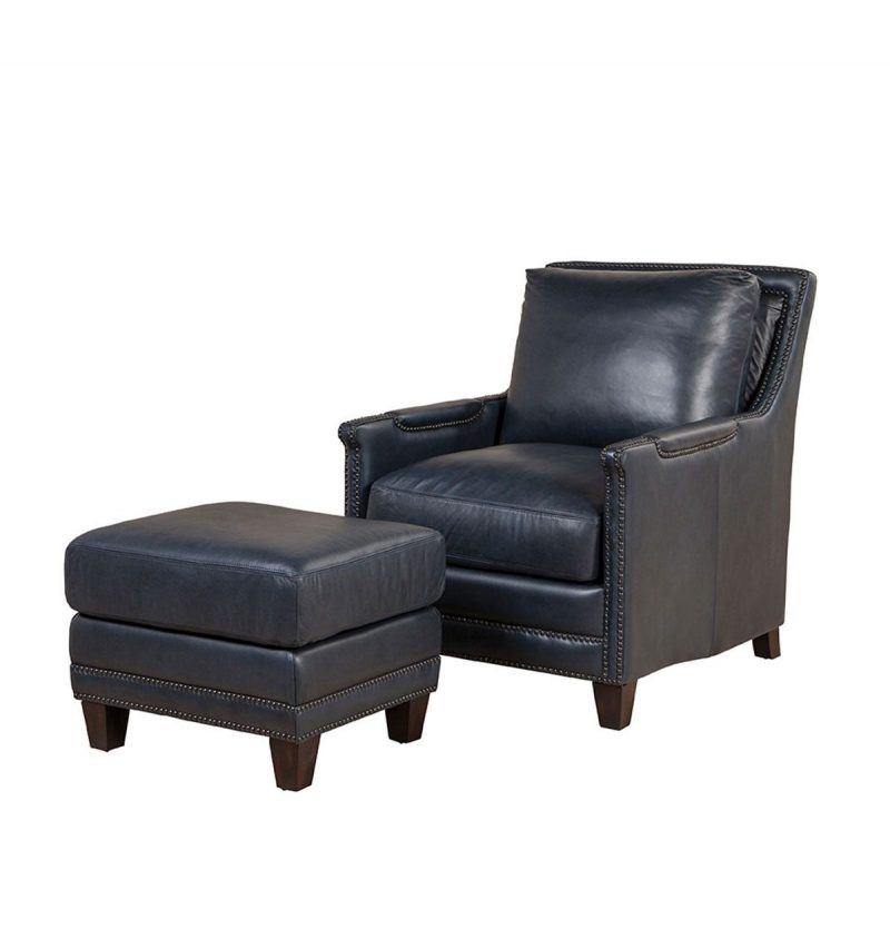 Picture of Prescott-Chair---Prescott-Ottoman---Cavalier-Navy