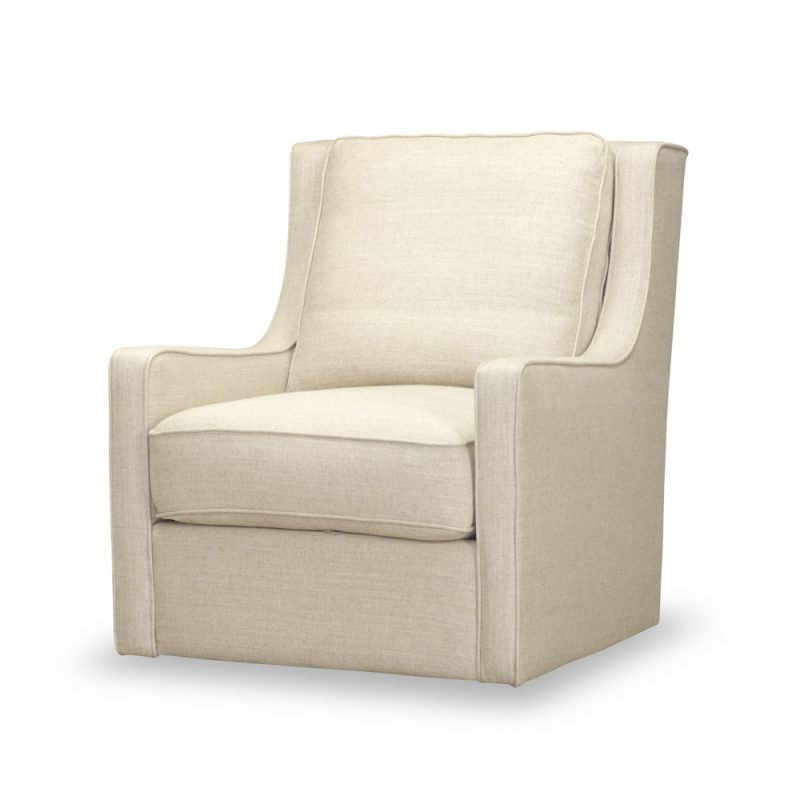 Calvin Swivel Chair in Windfield Natural