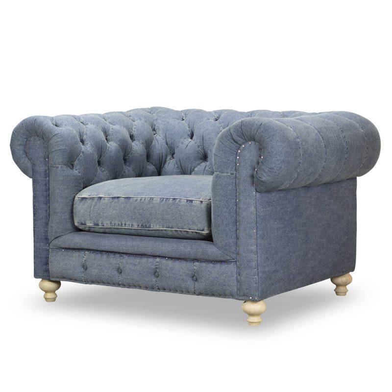 Greenwich Chair in Desi  Blue Denim
