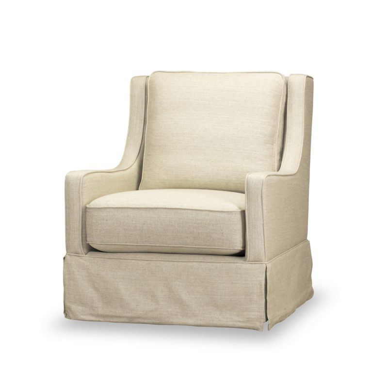 Kelly Swivel Chair in Windfield Natural