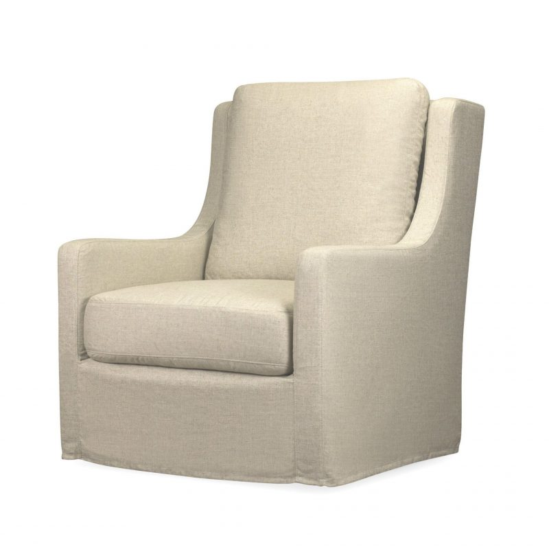 Myles Slipcovered Swivel Chair  - Windfield Natural