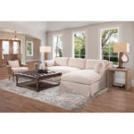 Dune Slipcovered Sectional LAF Chaise/RAF Loveseat in Floris Linen