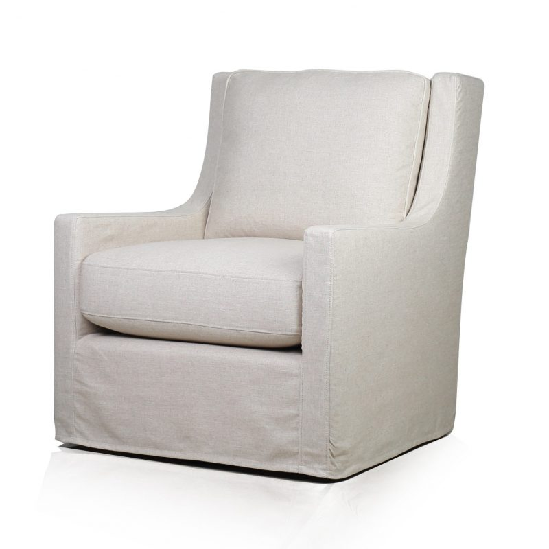 Myles Slipcovered Swivel Glider Chair - Windfield Natural