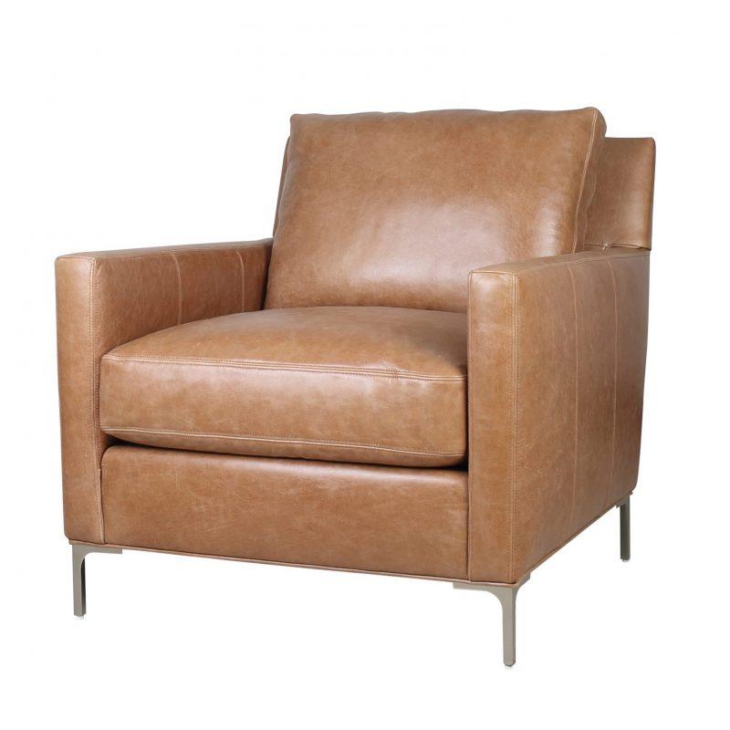 Turner Chair in Iceburg  Cognac