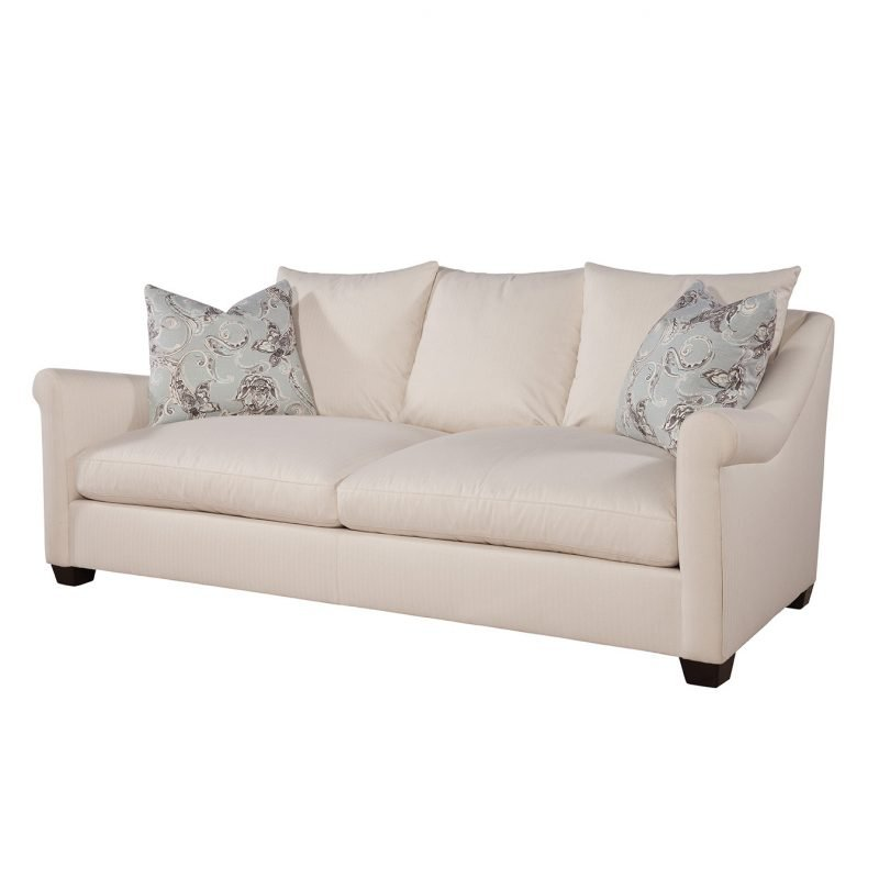 Annalise Sofa in Hanover Cream with Campanille Mist Pillows