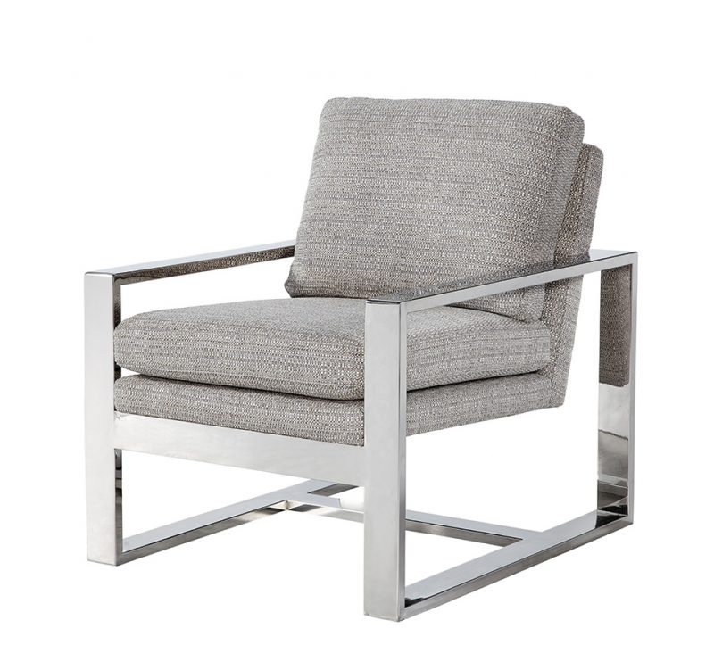 Avalon Chair/Jackie O Gunmetal