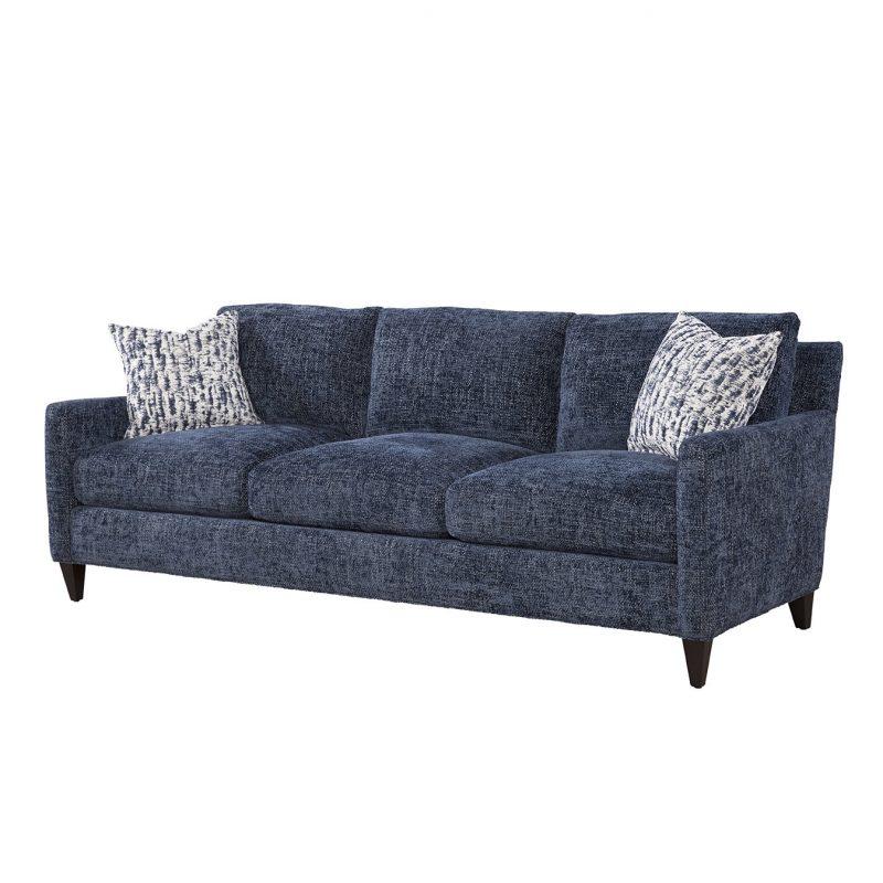 Riverside Sofa in Norse Lake with Joplin Indigo Pillow