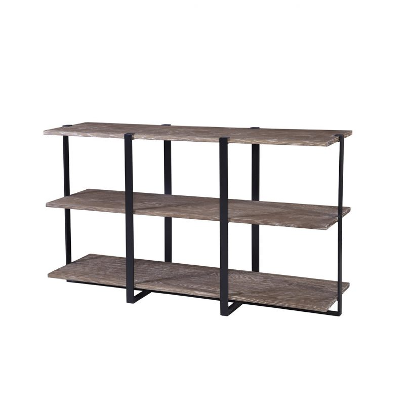 Sequoia Console in Dark Brown and Black Metal