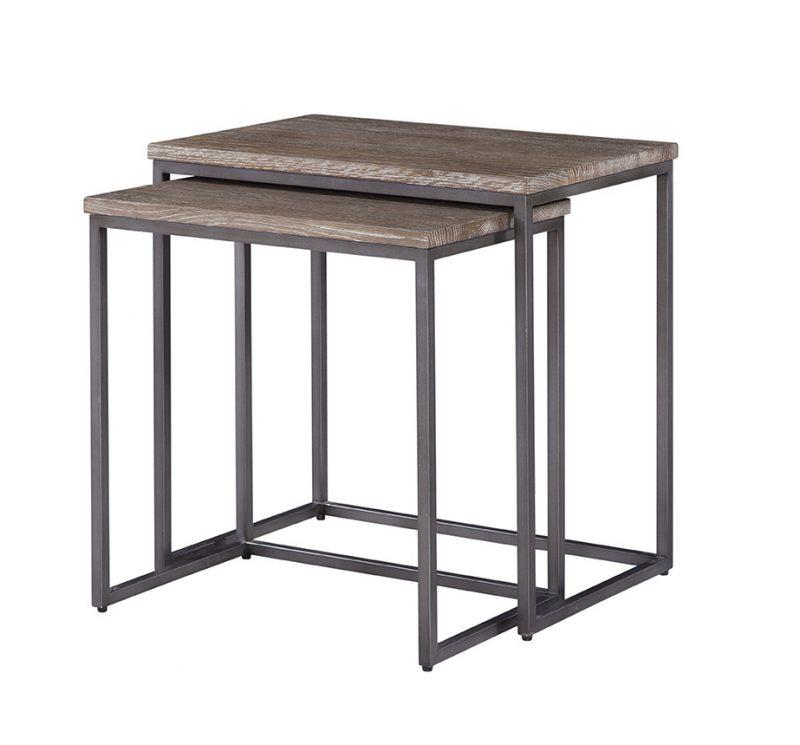 surfside Nesting Tables/Dark Brown/Gunmetal