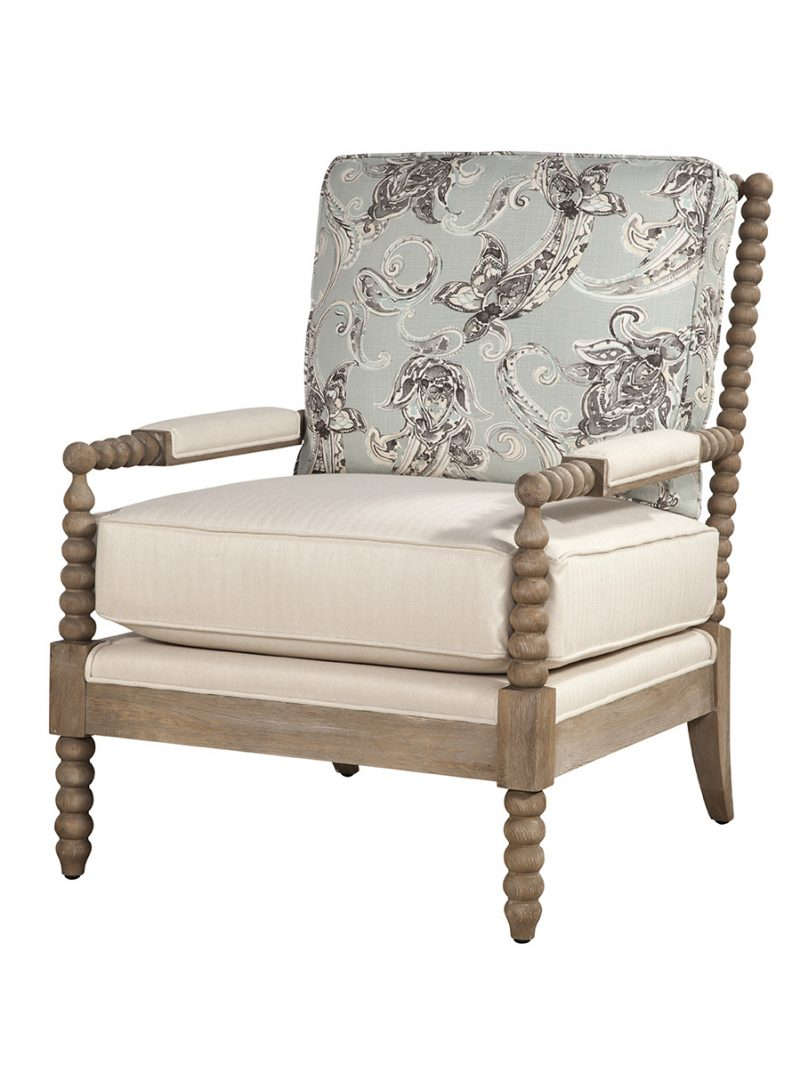 Atticus Chair - Hanover Cream and Campanille Mist
