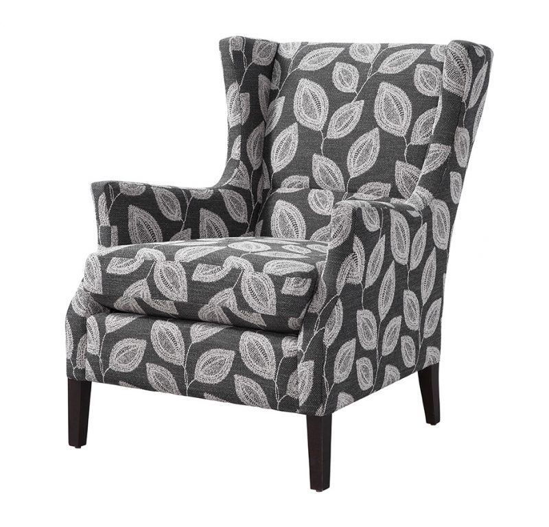 Channing Chair in Adril Charcoal