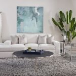 Newport Conversation Sectional in Gorgeous Canvas with Jackie O Gunmetal/Dax Silver Pillows