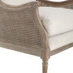 Walker Cane Back Chair/Borneo Light Brown and Natural Finish