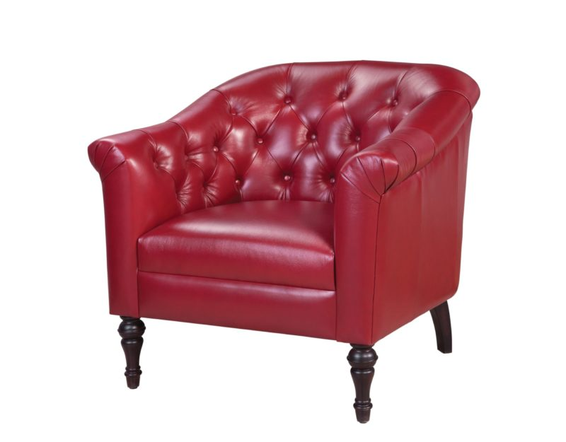 Emmy Chair in Supple Red