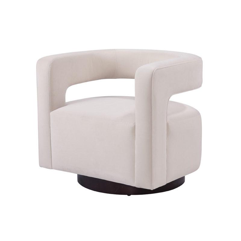 Santa Barbara Swivel Chair in Cayenne Ivory
